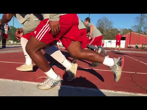 Newberry Football Speed, Strength, and Conditioning Winter 2018 Part 2