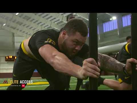 Elite Access: Gopher Football Off-Season Workout in New Facility