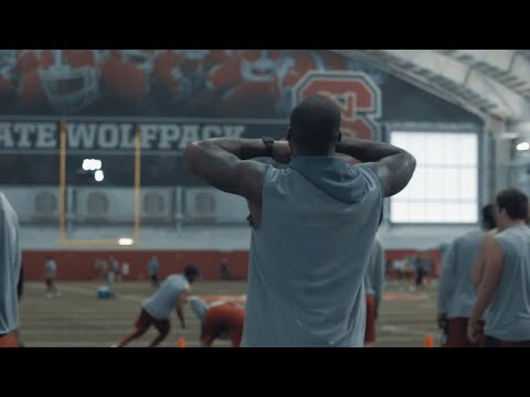 NC State Football Run Conditioning