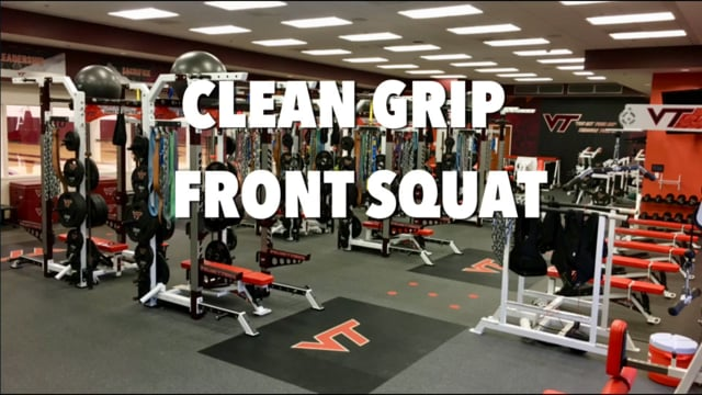 VT WBB Clean Grip and Cross Grip Front Squat Technique