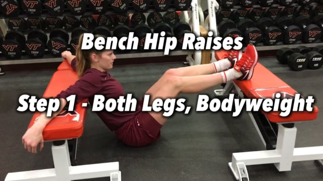 Virginia Tech Women's Basketball - Bench Hip Raises/Extensions/Thrusts