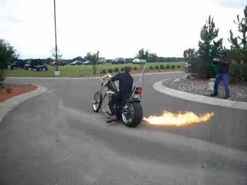 Victory Chopper with Flaming Exhaust