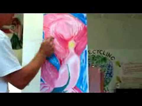 Time Lapse - Live Demo Oil Painting in Expressionism - Pinkalicious - Joseph Palotas