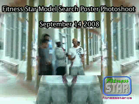 Fitness STAR Model Search Poster Photo Shoot