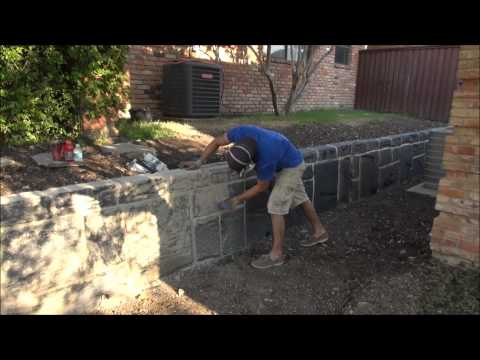 Concrete carved retaining wall   dallas fort worth   texas
