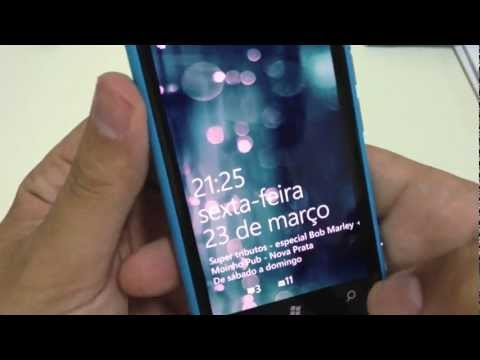 Unboxing do Nokia Lumia 800