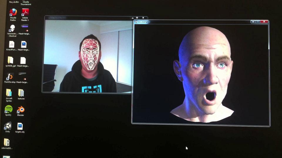 Kinect SDK FaceTracking - Unity3D