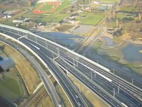 A74 in birds eye view over de Autosnelweg   Aus Vogelperspective über die Autobahn A74-A61