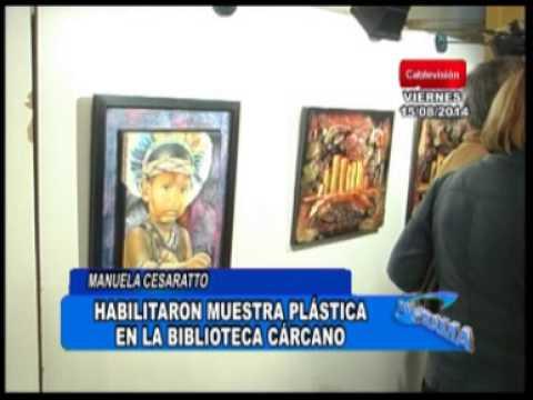 Muestra plástica nacional en la biblioteca Cárcano