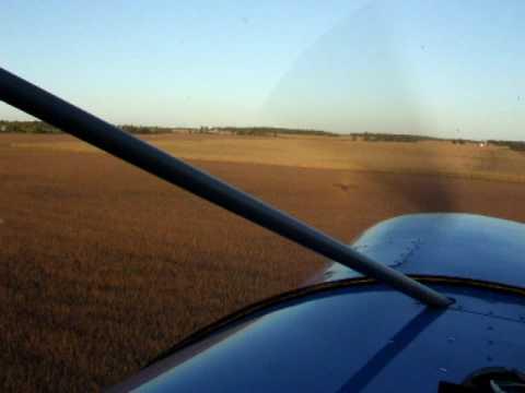 Corn row flying