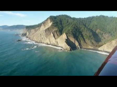 Flying Up The Pacific Coast Just south of Shelter Cove