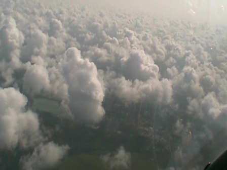 VFR above broken clouds 15AUG10