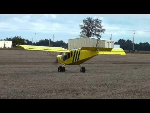 Short take off and landing on farm field