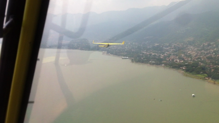 stol 701 flight over chapala lake, MX.