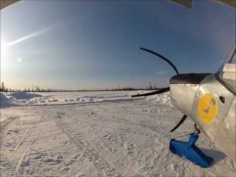 Flying the Zenith STOL from snow skis in Alaska