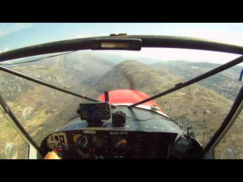 Mountain flying in the STOL CH 701 in Southern France