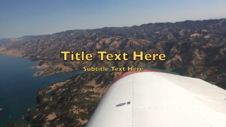 Flying over Lake Berryessa, CA