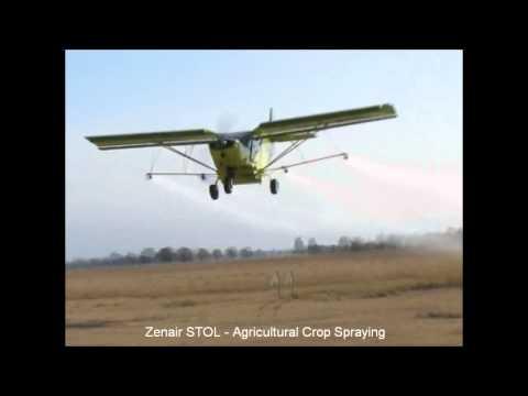 Crop spraying with the Zenair STOL CH 801 sport utility aircraft