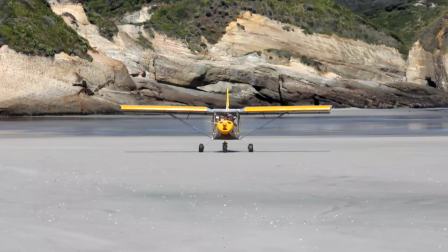 Zenith STOL at Wharariki beach, New Zealand