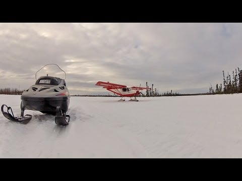 Zenith STOL on skis in Alaska: Ken Visits Bob...