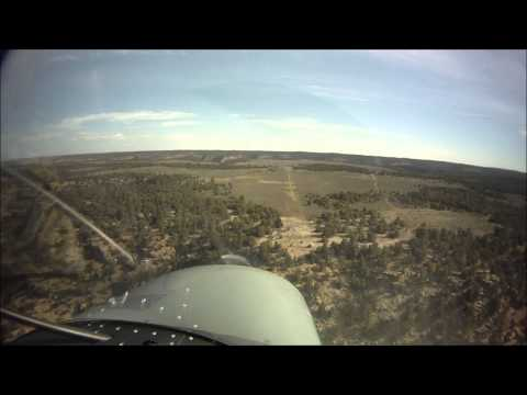 Landing at an abandoned mountain airstrip