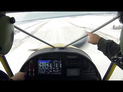 Winter flight in the STOL CH 750