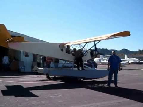 First engine start: STOL CH 750 on Amphibious Floats