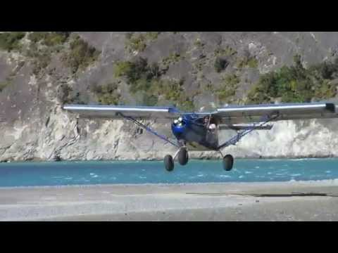 Waimakariri river landing in the STOL CH 701