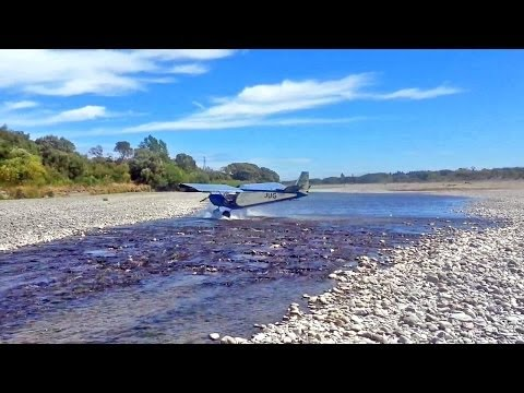 """River crossing with the """"Sky Jeep"""""""