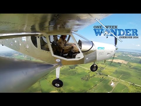 First Flight of the One Week Wonder airplane