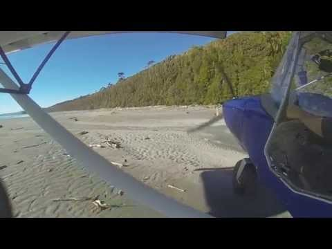 Beach flying: West coast, New Zealand