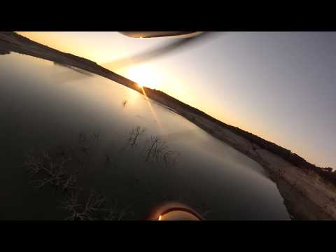 Flying Over The Lake at Sunset