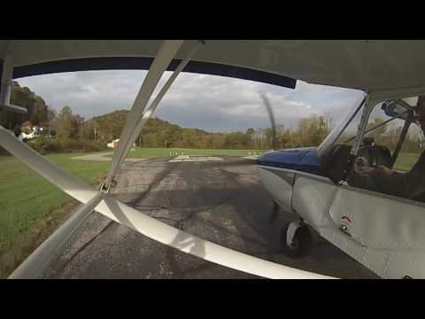 Late afternoon fall flight out of Crazy Horse in a Zenith CH701 STOL