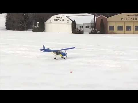STOL CH 750 on wheel-skis at Oshkosh