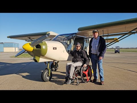 Cross-country flight with wheelchair in the back