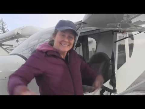 Rebecca solo flight in the STOL CH 750
