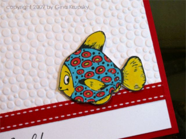 Partial Cuttlebug Embossing