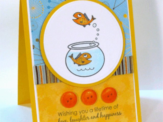 Happy Fish Card- featuring Copic Markers