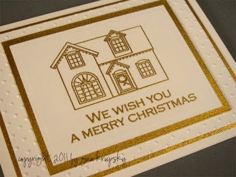 Gold Edge Embossed Holiday Card