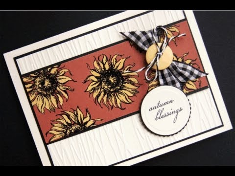 Autumn Blessings Bleached Sunflowers Card