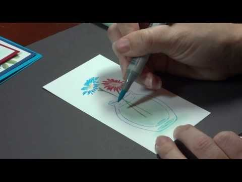Color Water in a Clear Vase with Copics- Melanie Muenchinger