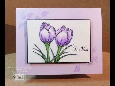 Signs of Spring Purple Crocus Card Tutorial- Theresa Momber