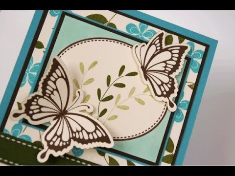 Shabby Spring Vintage Cuts Butterflies Card
