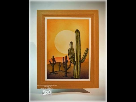 Create a Desert Sunset- by Theresa Momber