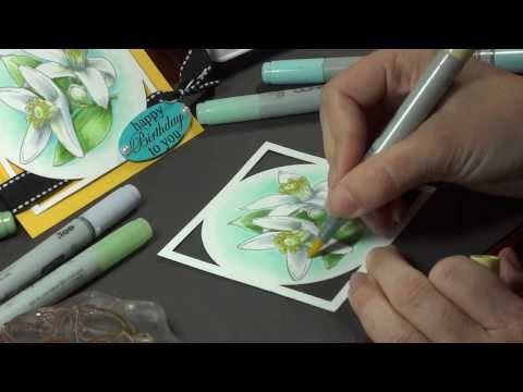 Coloring White Flowers with Copics- Melanie Muenchinger