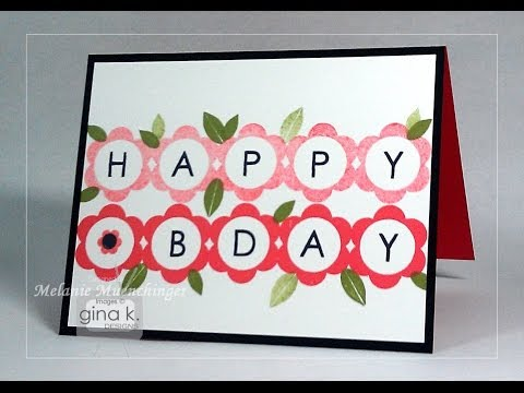 Tips for Stamping Letters:  Lots of Letters 2- Melanie Muenchinger