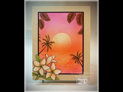 Tropical Sunset Card Making Tutorial by Theresa Momber