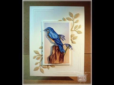 Lovely Bluebird Card Tutorial by Theresa Momber