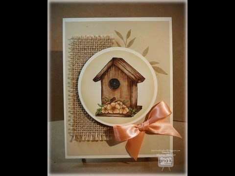 Weathered Birdhouse Card Making Tutorial- Theresa Momber