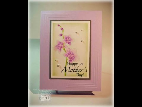 Embossed Orchid Card